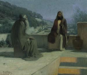 Jesus and Nicodemus by Henry Ossawa Tanner