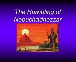 The Humbling of Nebuchadnezzar