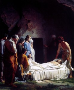 Burial of Christ by Carl Bloch