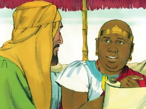 Philip and the Ethiopian Eunuch - picture courtesy of  http://www.freebibleimages.org/