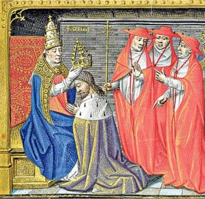 The church crowning King Charles VII