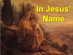 """In Jesus Name"" – Public Lecture on Sunday Dec. 18 at 9:00 am CT"