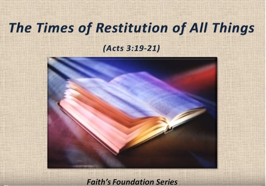 doctrine of restitution